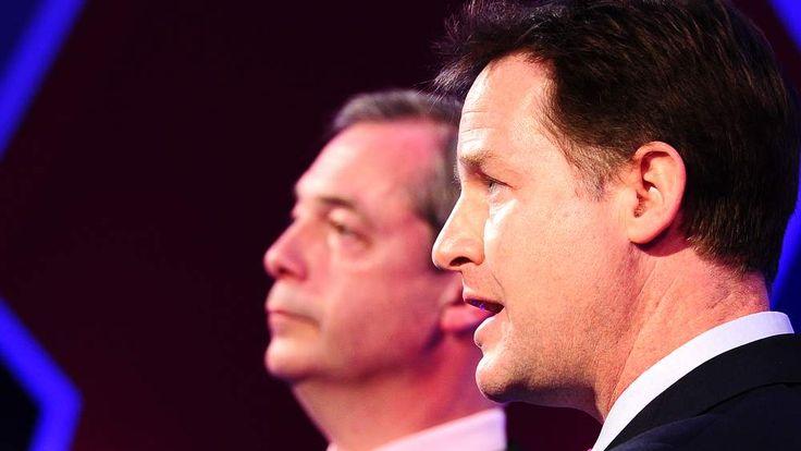 Nick Clegg and Nigel Farage debate Britain's EU membership.