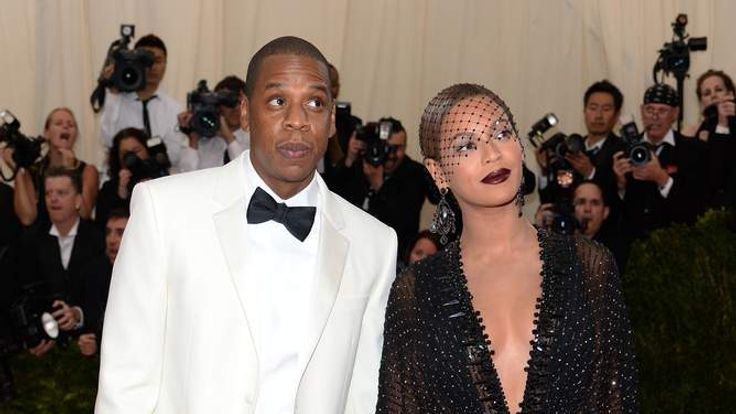 Jay Z and Beyonce Knowles attend the Met Gala