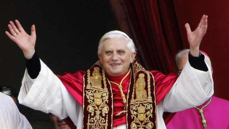Germany's Joseph Ratzinger appears at th