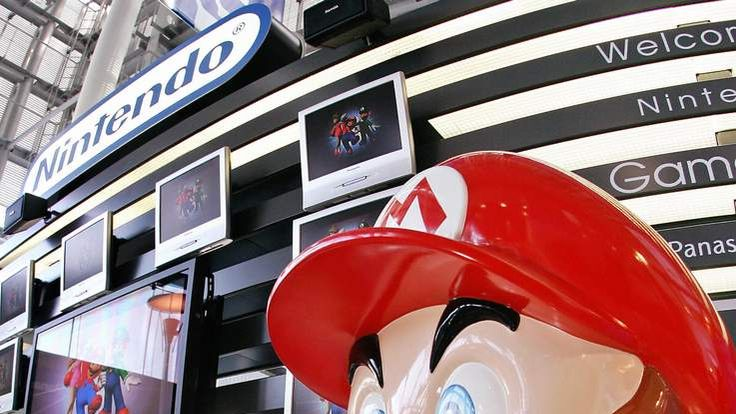 A large mascot of Nintendo's popular gam