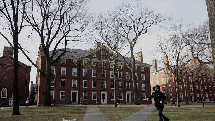 The campus of Harvard University in Cambridge, Massachusetts
