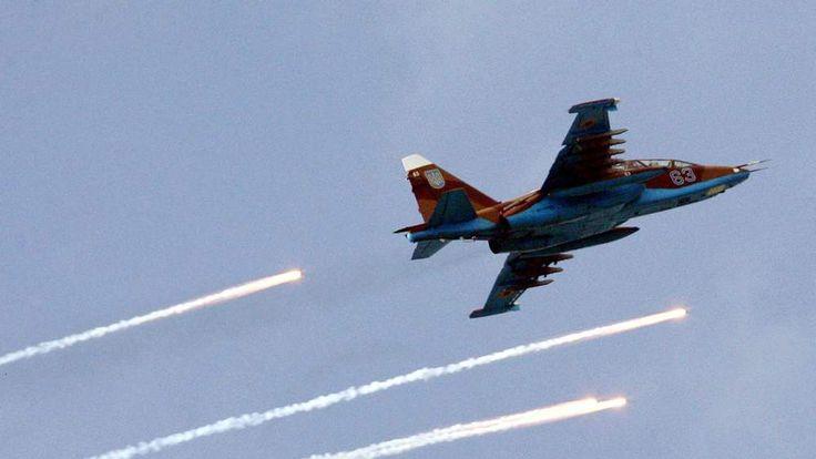 Ukrainian Air Force SU-25 fighter plane