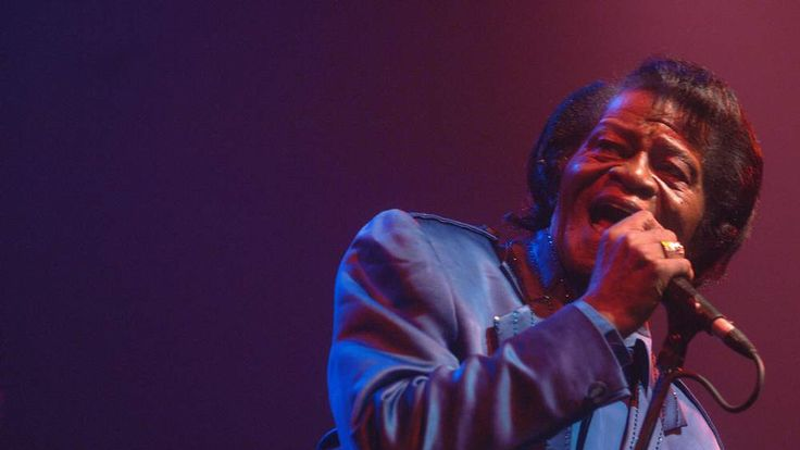US funk singer James Brown performs