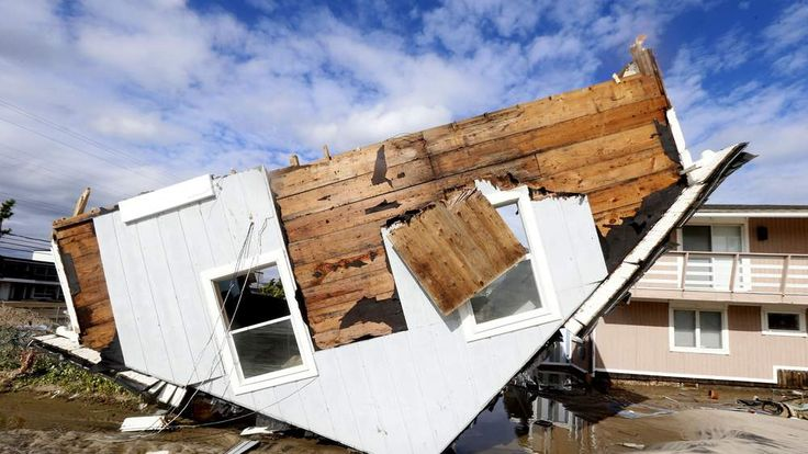 House Upside-Down In New Jersey After Superstorm Sandy