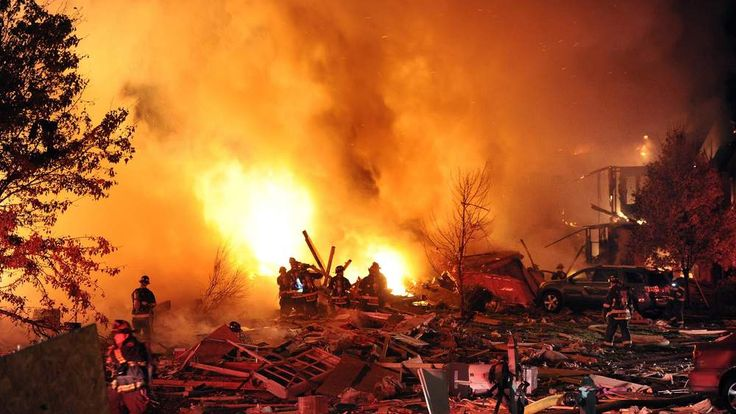 Indianapolis House explosion fire 2