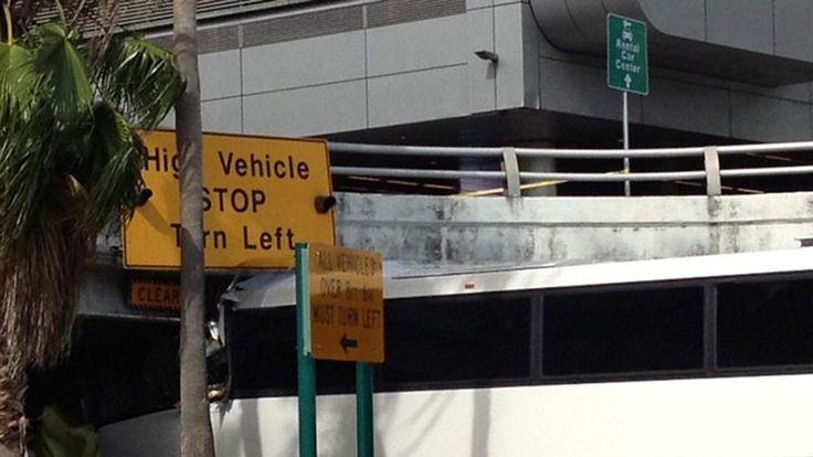 Bus crash at Miami Airport