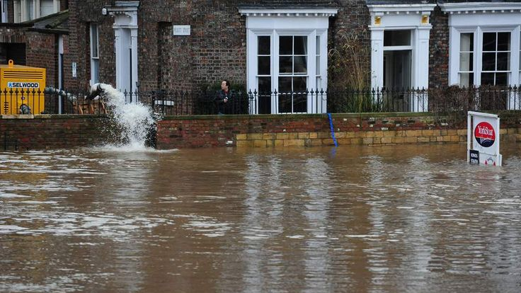 Flooding in York city centre