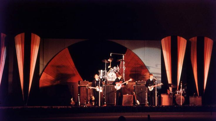 The Beatles on stage in the US in 1964