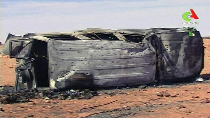 In this image taken from Algerian TV showing what it said was the aftermath of the hostage crisis