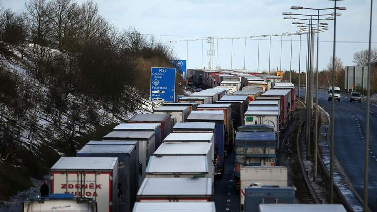 Big freeze causes chunnel gridlock