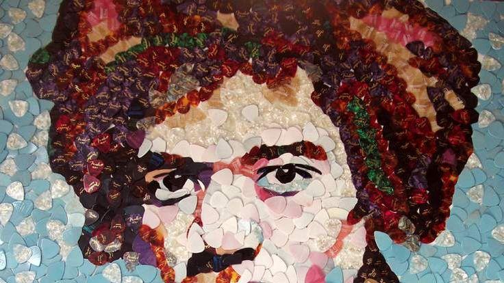 Hendrix plectrum mosaic