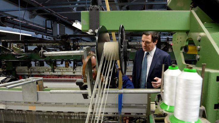 George Osborne visits AW Hainsworth factory