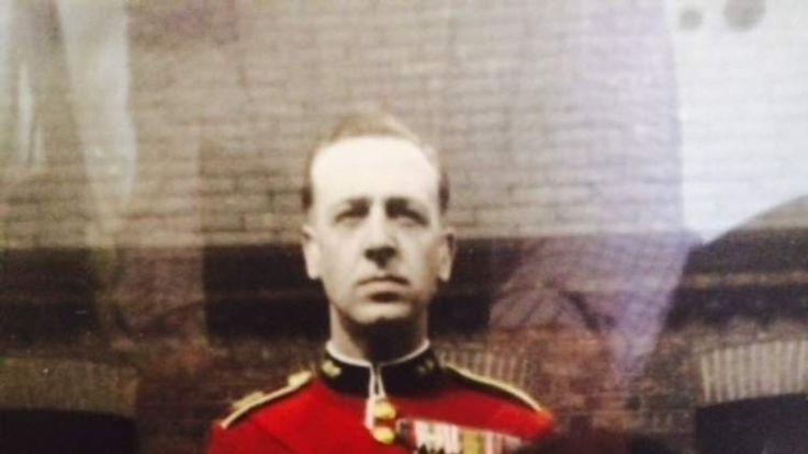 An archive picture of a 92-year-old war veteran whose military medals were stolen on the 70th anniversary of D-Day