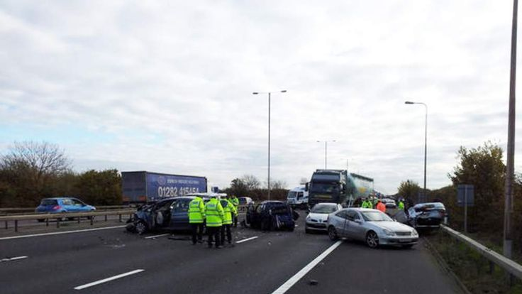 M1 crash. Picture: Thames Valley Police Roads Policing Team on Twitter (@tvprp)