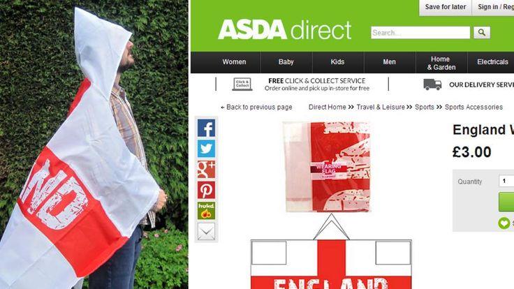 Asda's wearable England flag
