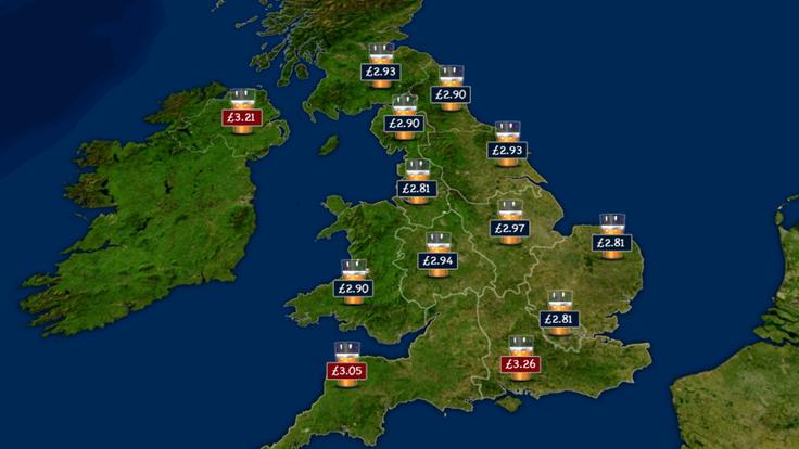 Beer map of Britain