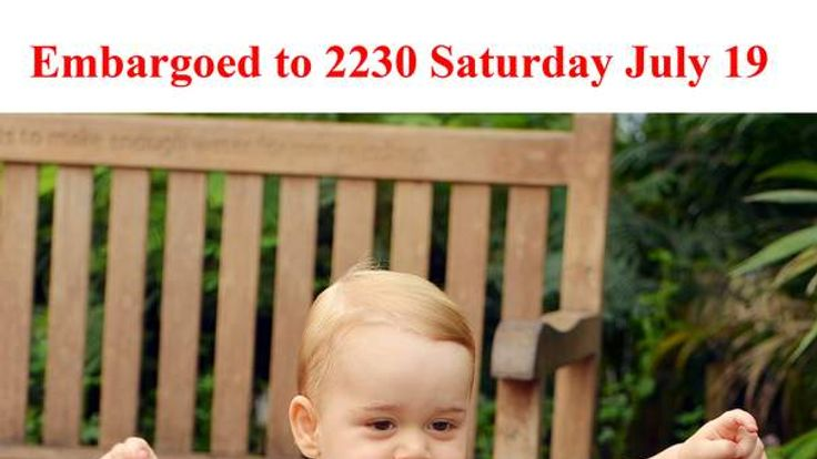 Prince George's first birthday picture