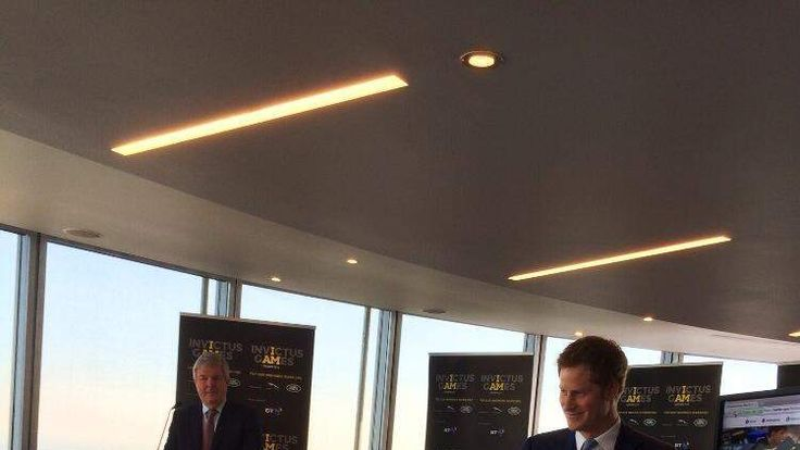 Prince Harry sends his first tweet. Pic: @InvictusLondon