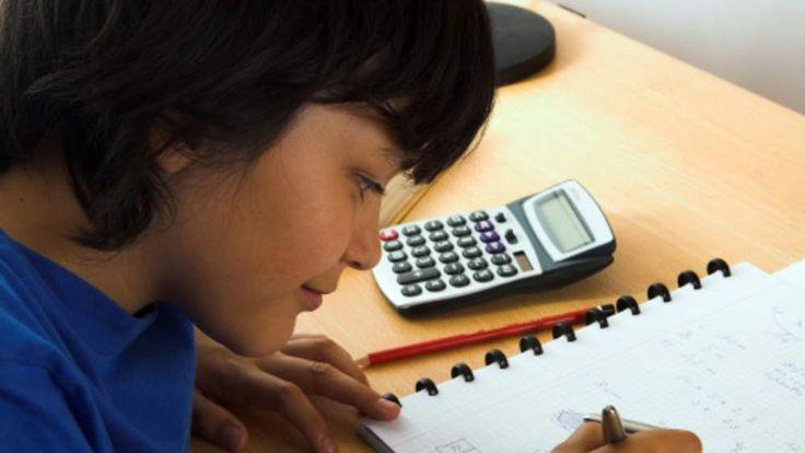 Boy with a calculator