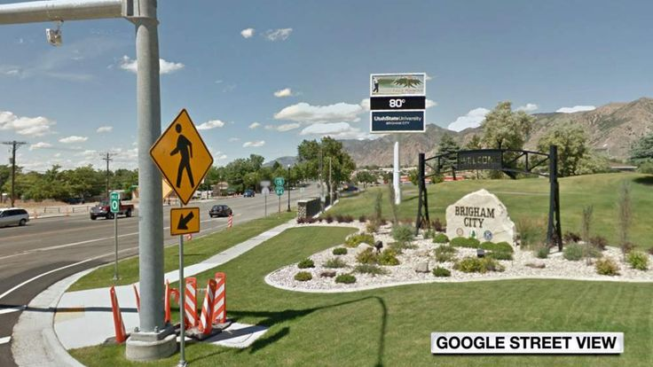 The entrance to Brigham City, Utah