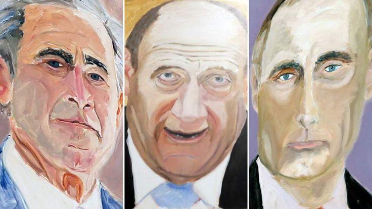 George W Bush's paintings of world leaders
