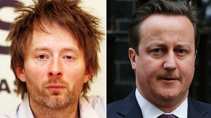 Thom Yorke and David Cameron