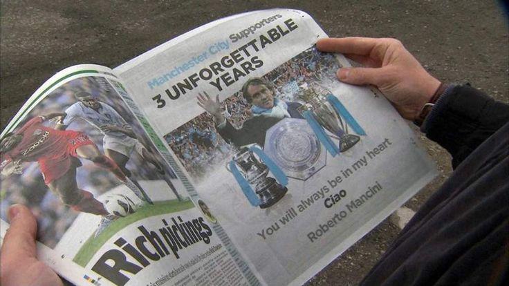 Roberto Mancini's full-page newspaper advert