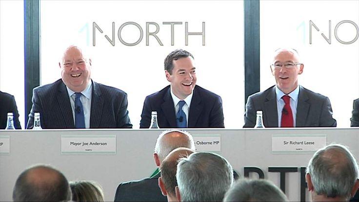 Labour Mayor of Liverpool Joe Anderson with George Osborne