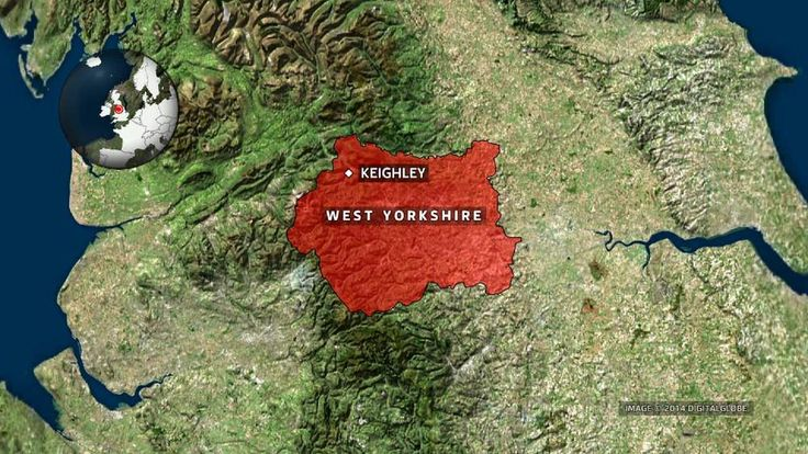 Keighley in West Yorkshire map