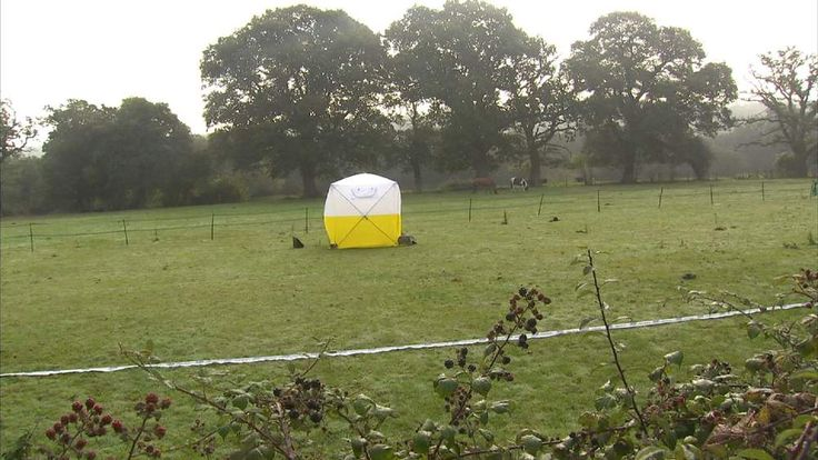 GVs of scene where woman's body was found in Beaulieu, Hampshire