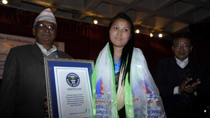 Chhurim Sherpa With Nepal's Tourism Minister
