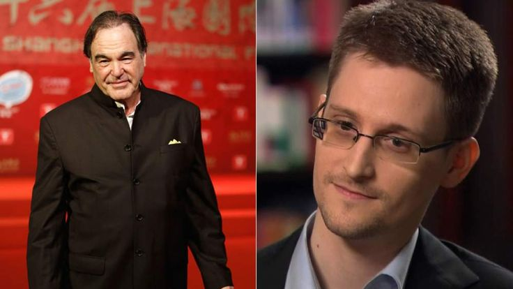 Oliver Stone and Edward Snowden