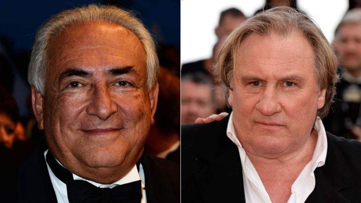 Dominique Strauss Kahn and Gerard Depardieu