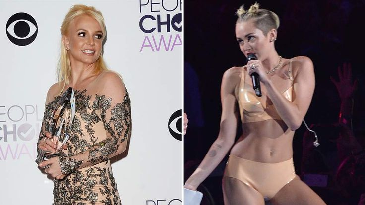 Britney Spears and Miley Cyrus