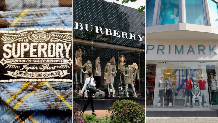 Superdry, Burberry and Primark