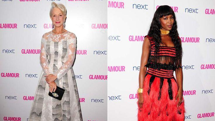 Dame Helen Mirren and Naomi Campbell