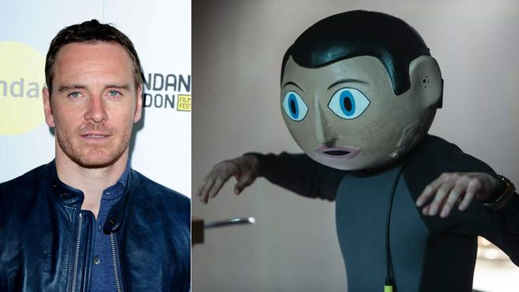 Michael Fassbender at premiere and as Frank.