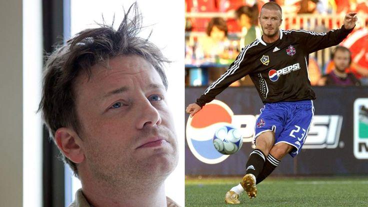 Jamie Oliver and David Beckham