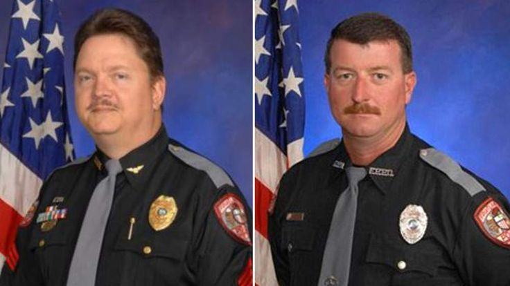 Deputy Chief David Borst (R) and Officer George Hunnewell (L)