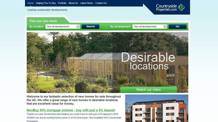 Countryside Properties website