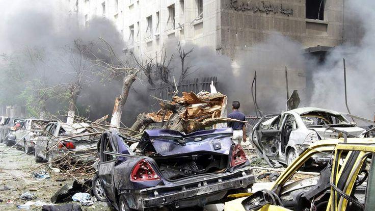 Damascus bomb blast aftermath