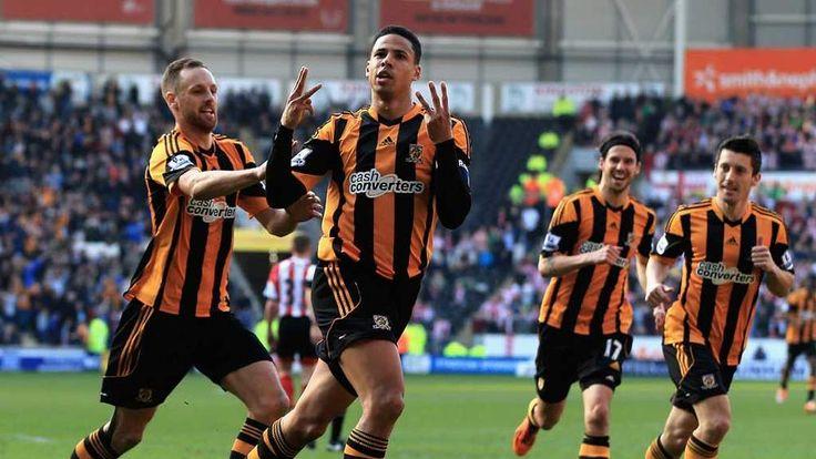 Curtis Davies celebrates after scoring for Hull City