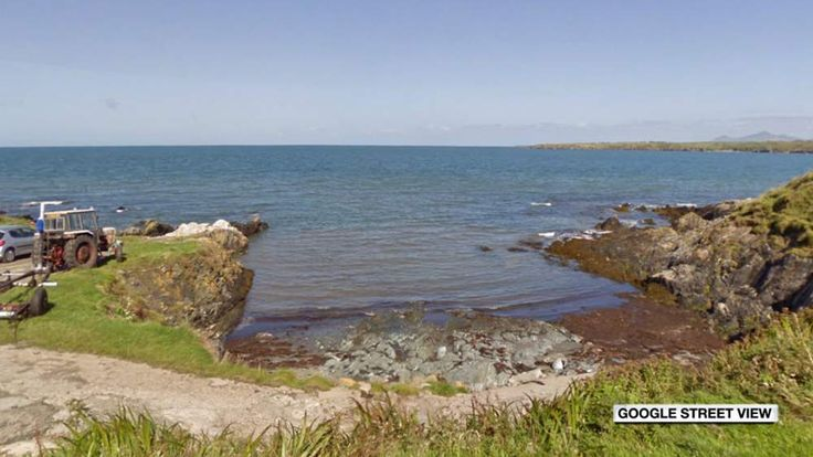 A view of the spot where the earthquake took place, off the Llyn Peninsula