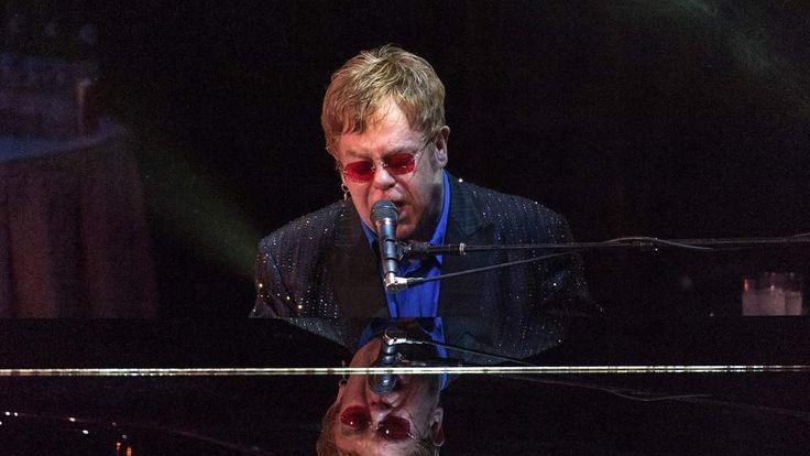 Elton John performing last month in New York