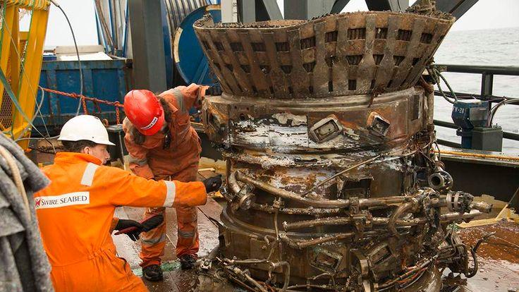 F-1 Engine thrust chamber Credit: Bezos Expeditions