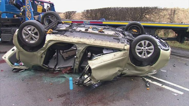 The accident happened on the A68