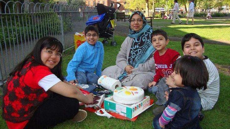 Dr Sabah Usmani and her five children
