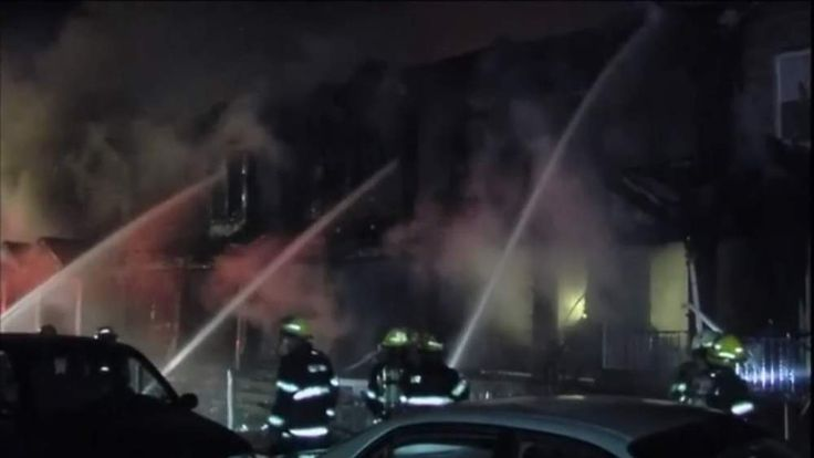 A grab of a house fire in the US