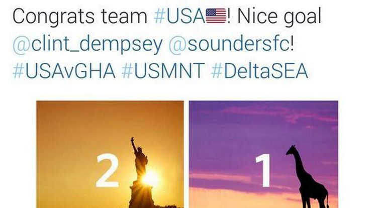 170614 $$ Delta Airlines Apologises For World Cup Tweet