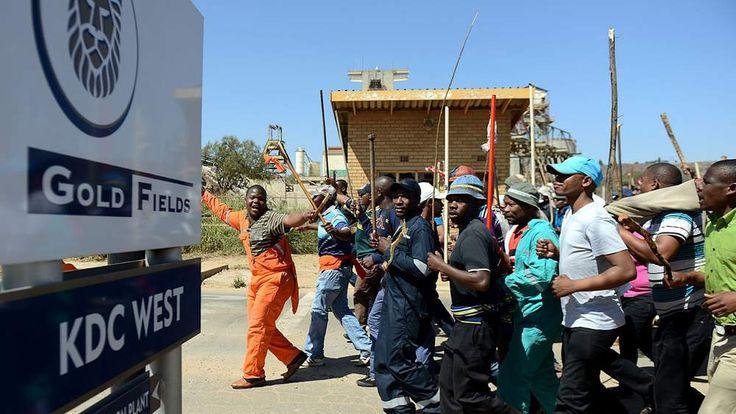 Striking Gold Fields workers